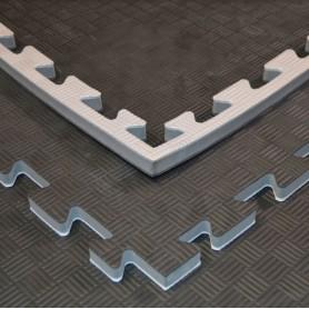 Bodenmatten - Kampfsportmatten grau/schwarz 100x100x2cm
