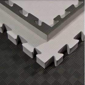Bodenmatten - Kampfsportmatten, grau/schwarz 100x100x4cm