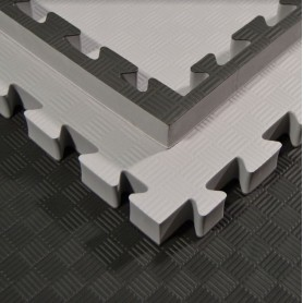 Tapis de sol - Tapis d'arts martiaux, gris/noir 100x100x4cm