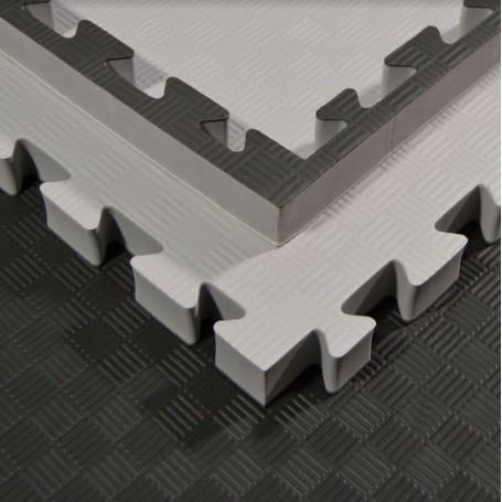 Floor mats - Martial arts mats, grey/black 100x100x4cm