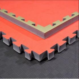 Floor mats - Martial arts mats green/red 100x100x4cm