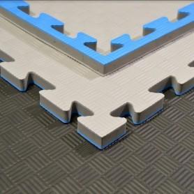 PHÖNIX Martial Arts Mat Professional, grey/blue (KMB112) 2 x100 x100cm