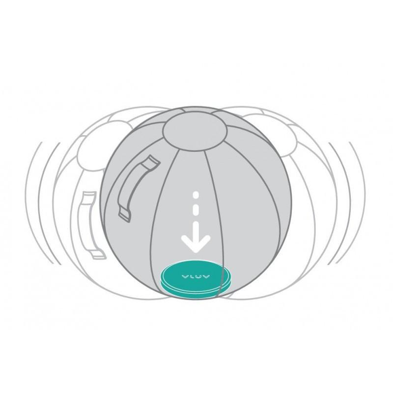 VLUV UPP Bodengewicht für 60-65cm Sitzbälle, grün-blau