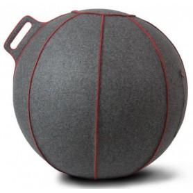 VLUV Velt Merino Wollfilz-Sitzball grau-meliert/rot