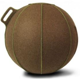 VLUV Velt Merino Wollfilz-Sitzball braun-meliert/grün