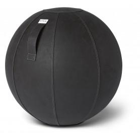 Ballon d'assise en cuir synthétique VLUV VEGA, noir, 60-65cm