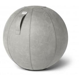 VLUV VEGA Balle assise en simili cuir, ciment, 60-65cm