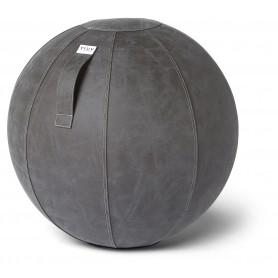 VLUV VEGA Ballon assis en simili cuir, Gris foncé, 60-65cm