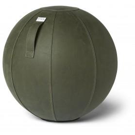 VLUV VEGA Ballon assis en simili cuir, Moss, 60-65cm