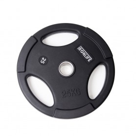 Iron Life weight plates 51mm, rubberized, black