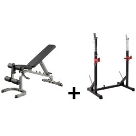 Set offer - Body Solid training bench GFID31 with barbell rack Core 2.0