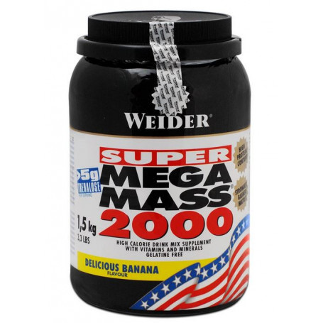 Weider Mega Mass 2000, 1,5kg Dose