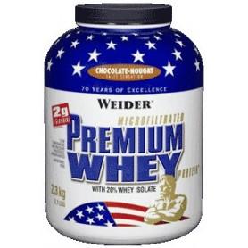 Boîte de 2,3 kg de protéines de lactosérum Weider Premium