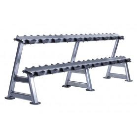 Jordan Dumbbell Rack for 20KH - 2-ply, silver (JTDR-08-10N)