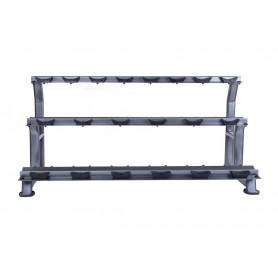 Jordan Dumbbell Rack for 20KH - 3-ply, silver (JTDR-08-10N3)