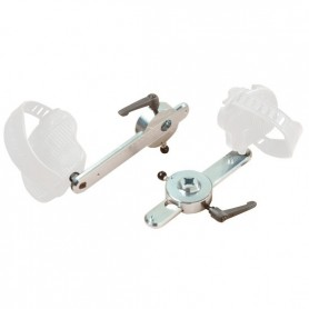 Adjustable pedal arms