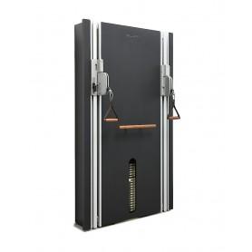 Stil-Fit Kabelzug Pure matt schwarz mit edlem Walnussholz