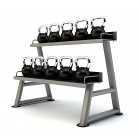 Jordan Kettlebells rubberized with chrome handle 4-24kg with stand