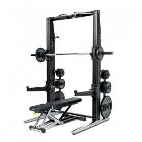 TechnoGym Rack + Bench Superior-Set Chrome