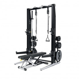 TechnoGym Rack + Bench Excellence-Set Chrome