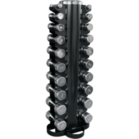 Dumbbell set 1-10kg chrome with vertical stand (CHDUSET)