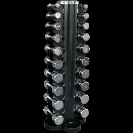 Kurzhantel-Satz 1-10kg chrom mit Vertikalständer (CHDUSET)