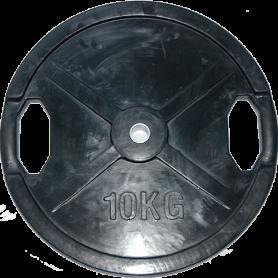 Plaques de poids Body Solid 26mm, noir, caoutchouté (SRP)
