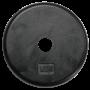 Body Solid Hantelscheiben 26mm, schwarz, gummiert (SRP)