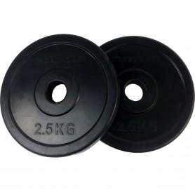 Plaques de poids 31mm, noires, caoutchoutées