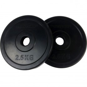 Weight plates 31mm, black, rubberized