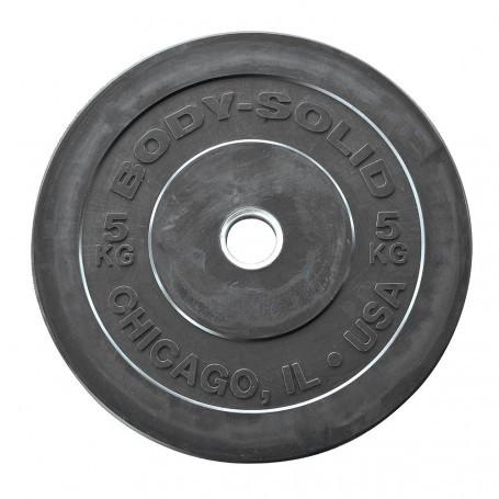 Body Solid Rubber Bumper Plates 51mm schwarz (OBPXK)