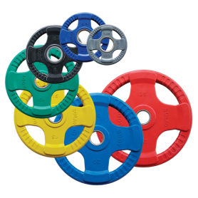 Plaques d'haltères Body Solid 51mm 4D caoutchoutées, colorées (ORCK)