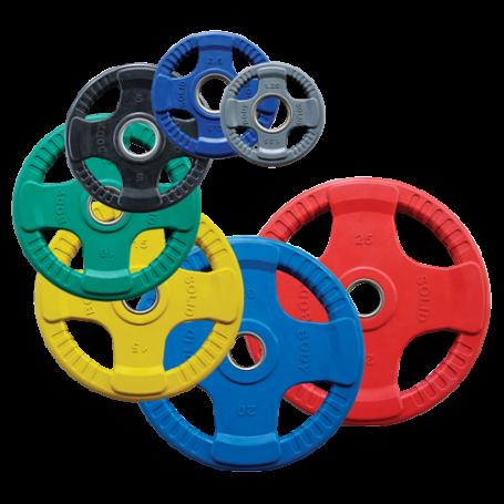 Body Solid Hantelscheiben 51mm 4D gummiert, farbig (ORCK)