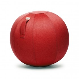 VLUV Leiv Kinder-Stoff-Sitzball ruby red
