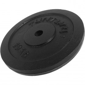 Plaques de poids Tunturi 31mm, noires, en fonte
