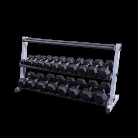Body Solid Kurzhantel-/Ballständer breit, 3-lagig (GDR60+GMRT6)