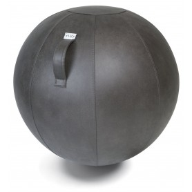 VLUV Veel Lederstoff-Sitzball, Elephant Grau, 60-65cm