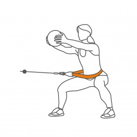 Option pour l'entraîneur ivo : ceinture ronde à 360 degrés