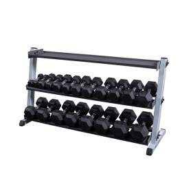 Body Solid Dumbbell/Kettlebell Stand wide, 3-ply (GDR60 GKRT6)