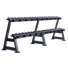 Jordan Dumbbell Rack for 20KH - 2-ply, black (JTDR-08-10N)