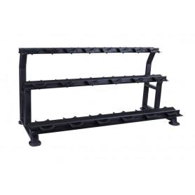 Porte- haltères Jordan pour 20KH - 3 plis, noir (JTDR-08-10N