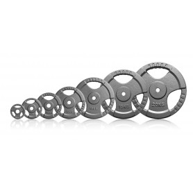 Weight plates 26mm, grey, cast, with hand holes