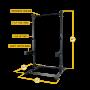 Body Solid Commercial Extended Half Rack Kit (SPR500BACKP4)