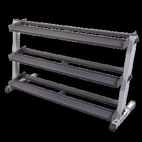 Body Solid Dumbbell Rack wide, 3-ply (GDR60 GDRT6)
