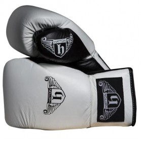 Hatton Pro Sparring Boxing Gloves Leather Lace Up (JLBOX-HATPG)