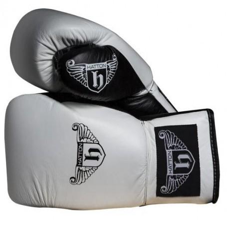 Gants de boxe Hatton Pro Sparring à lacets en cuir (JLBOX-HATPG)