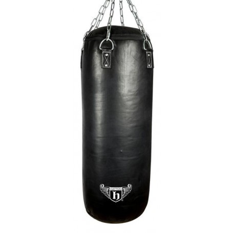 Hatton 42kg Heavy Leather Punching Bag 130x40cm (JLBOX-HAT130BL)
