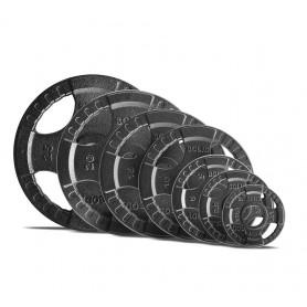 Corps Plaques de poids solides 51mm 4D, moulées, noires (OPTK)