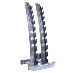 Jordan Dumbbell Rack vertical pour 1-10kg/2-20kg (10 paires KH) argent (JTDR-05)