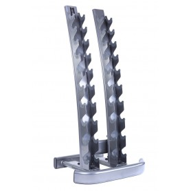 Jordan Dumbbell Rack vertical pour 10 paires de KH, argent (JTDR-05)